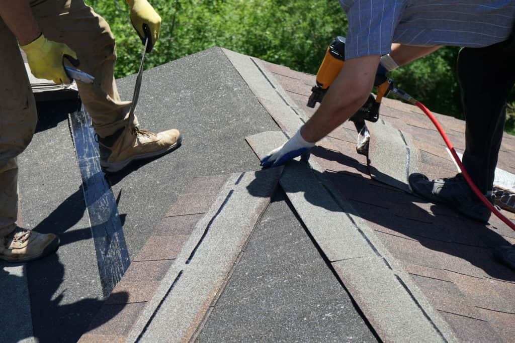 Roofing Contractors on Roof in North Texas